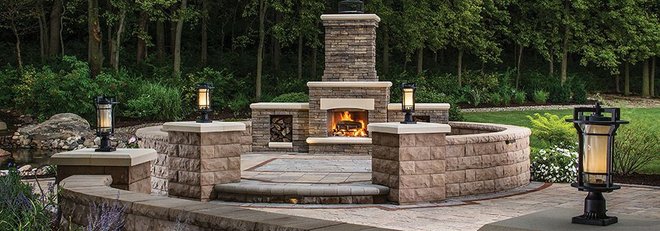 Elements outdoor fireplace